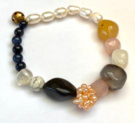 Vintage Preloved Beads & Buttons Bracelet No. 3