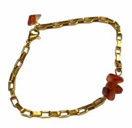 Vintage Preloved Chain & Aventurine Bracelet No. 2