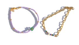 Beads & Chain Bracelet
