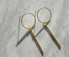 Circle Long Earstuds