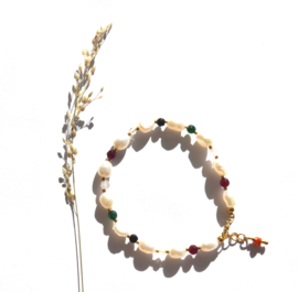 Colorful Keshi Pearl Bracelet