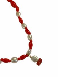Vintage Preloved Beads & Pearls Necklace N01.