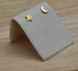 STAR & MOON earstuds gold