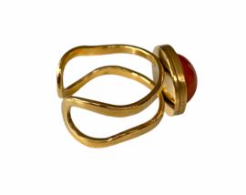 Carnelian Golden Ring