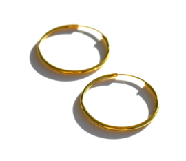 Sterling Golden  Hoop Earrings