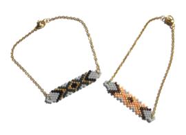 Woven Beads Golden Bracelet