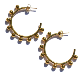 Kugler Round Golden Hoop Earrings