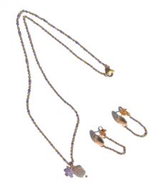 Shell & Enamel Chain Earrings