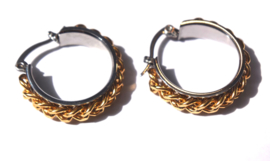 Chain Gold & Silver Hoop Earrings