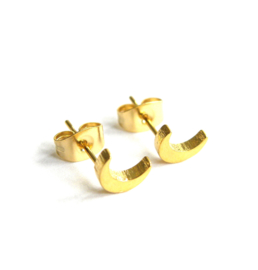 MOON earstuds gold