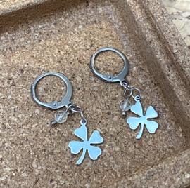 Lucky Clover & Citrine Earrings