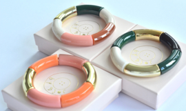 Colorful Tubes Bangle Bracelet