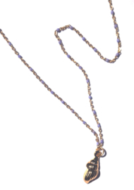Enamel & Golden Shell Necklace