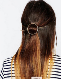 Golden Circle & Pin Hairclip