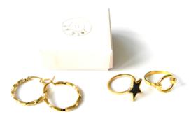 Twisted Golden Earring Hoops