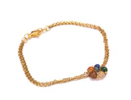 Natural Stone Circle Bracelet