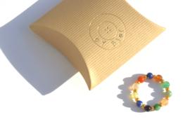 Gemstone & Gold Beaded Ring