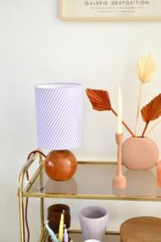 Lila Stripes & Wood Lamp