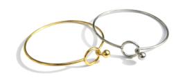 Golden Circle Bangle Bracelet