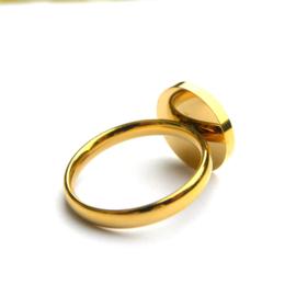 Black-Gold Circle Ring