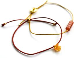 Amber Lucky Cord Bracelet