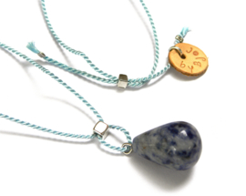 Sodalite & Cube Necklace