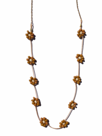Daisy Beads Golden Necklace