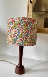 Liberty Colorful Flowers & Dark Wood Lamp