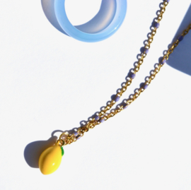 Lila & Lemon Golden Necklace
