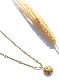 Liberty Pendant Golden Necklace
