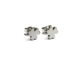 CLOVER earstuds silver