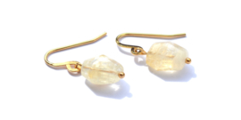 Citrine Lucky Golden Earrings
