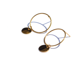 Circle & Coin Earstuds