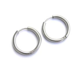 Twisted Silver Earring Hoops