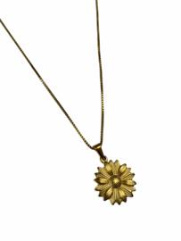Golden Flower Power Necklace