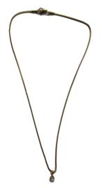 Rose Quarz Charm Golden Necklace