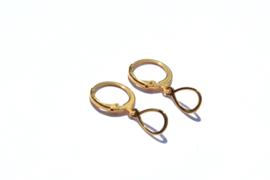 Oval Golden Hoop Earrings