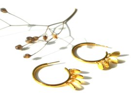 Golden Charm's Hoop Earrings