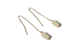 Topaz Stone Sterling Threader Earrings