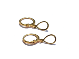 Oval Golden Hoop Earrings