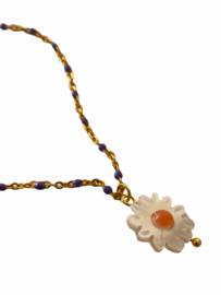 Golden Little Daisy Necklace