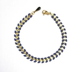 Enamel & Gold bracelet