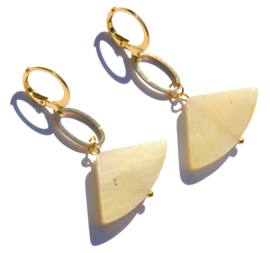 Topaz Jade Fan Earrings