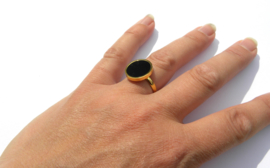 "Black Circle Ring ""Big"""