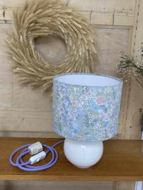 Liberty Pastel Flower & Ceramic White Lamp
