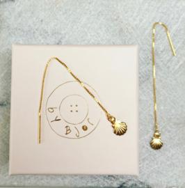 Shell Threader Earrings