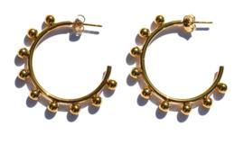 Kugler Round Golden Hoop Earrings