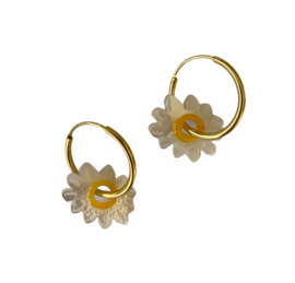 Daisy Sterling Hoop Earrings