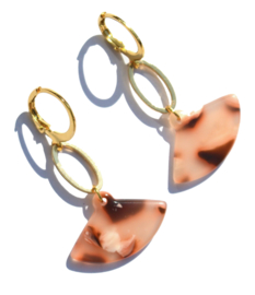 Fan Ovale Golden Earrings