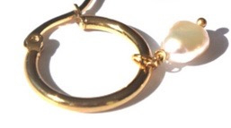 Lucky Charm Hoop Earrings
